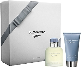 Parfémy, Parfumerie, kosmetika Dolce & Gabbana Light Blue Pour Homme - Sada (edt/75ml + ash/balm/75ml)