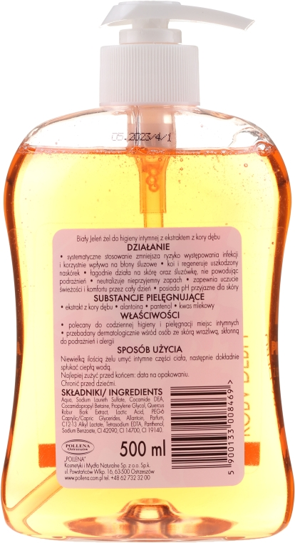 Hypoalergenní gel pro intimní hygienu s dubovou kůrou - Bialy Jelen Gel For Intimate Hygiene — foto N3