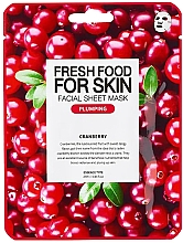 Parfémy, Parfumerie, kosmetika Plátýnková pleťová maska Klikva - Superfood For Skin Facial Sheet Mask Cranberry Plumping