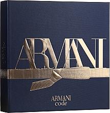Parfémy, Parfumerie, kosmetika Giorgio Armani Code - Sada (edt/50ml + shm/75ml + ash/balm/75ml)