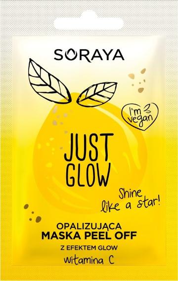Duhová exfoliační maska s třpytivým efektem - Soraya Just Glow