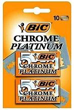 Parfémy, Parfumerie, kosmetika Sada náhradních žiletek k holicímu strojku Chrome Platinum, 10 ks - Bic
