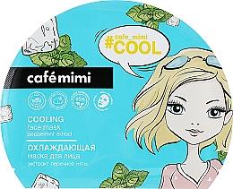Parfémy, Parfumerie, kosmetika Chladící látková maska na obličej - Cafe Mimi Cooling Face Mask Peppermint Extract