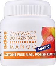 Parfémy, Parfumerie, kosmetika Odlakovač Mango s houbičkou - Ados Acetone Free Nail Polish Remover