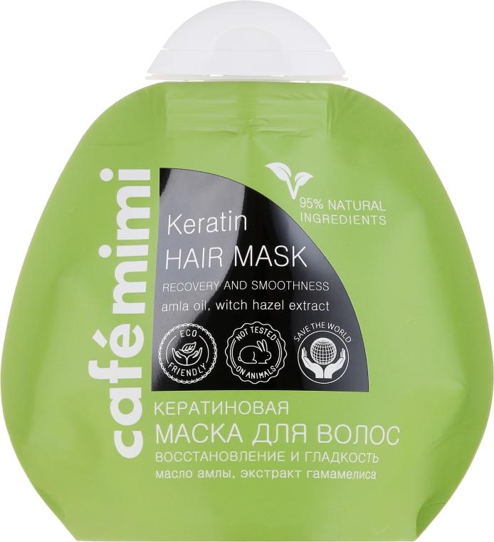 "Keratinová maska na vlasy ""Obnova, lesk a hladkost vlasů"" - Cafe Mimi Keratin Hair Mask"