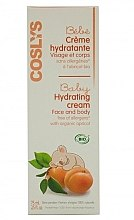 Parfémy, Parfumerie, kosmetika Dětský hydratační krém na tělo a obličej s organickou meruňkou - Coslys Baby Care Baby Hydrating Creamwith Organic Apricot Oil