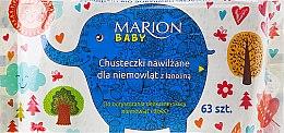 Parfémy, Parfumerie, kosmetika Vlhčené ubrousky pro novorozence, 63ks - Marion