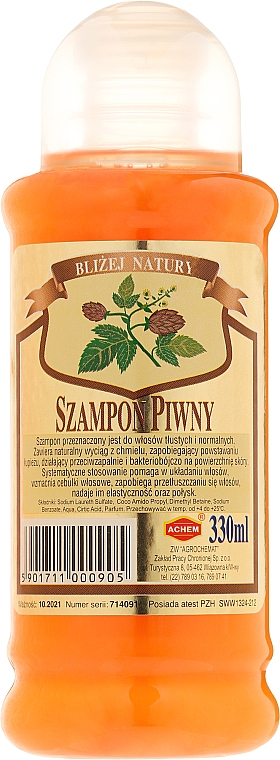 """Šampon na vlasy """"Pivný"""" - Achem Popular Beer Shampoo"""