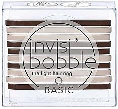 Parfémy, Parfumerie, kosmetika Sada gumiček na vlasy - Invisibobble Basic Mocca & Cream