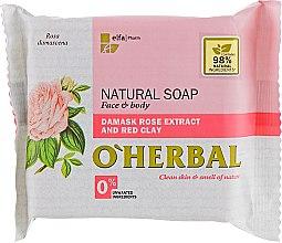 Parfémy, Parfumerie, kosmetika Přírodní mýdlo s extraktem z damaškové růže - O'Herbal Natural Soap Damask Rose