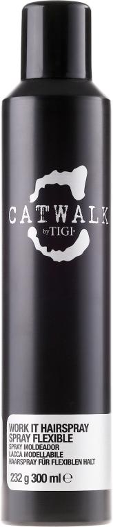 Lak na vlasy střední fixace - TIGI Catwalk Session Series Work it Hairspray