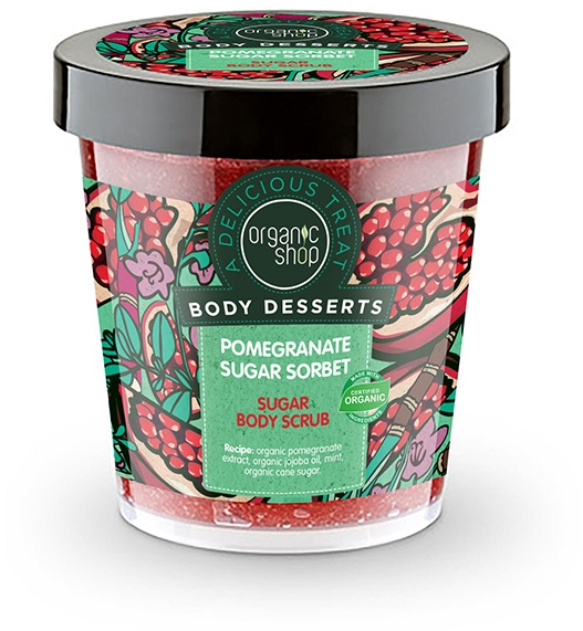 "Tělový peeling ""Sorbet z granátového jablka"" - Organic Shop Body Desserts Pomegranate Sugar Sorbet Sugar Body Scrub — foto N1"