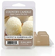 Parfémy, Parfumerie, kosmetika Vosk do aromalampy - Country Candle Coconut Marshmallow Wax Melts