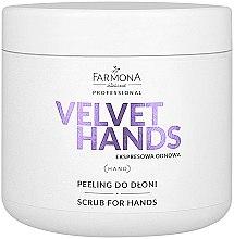 Parfémy, Parfumerie, kosmetika Peeling na ruce s vůní lilií a šeříků - Farmona Professional Velevet Hands Scrub For Hands