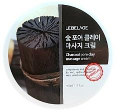 Parfémy, Parfumerie, kosmetika Masážní pleťový krém na bázi dřevéného uhlí - Lebelage Charcoal Pore Clay Massage Cream