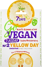 Parfémy, Parfumerie, kosmetika Plátýnková pleťová maska For a fabulous morning - 7 Days Go Vegan Tuesday Yellow Day