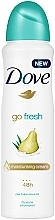 "Parfémy, Parfumerie, kosmetika Deodorant-antiperspirant ""Hruška a aloe vera"" - Dove Go Fresh Pear & Aloe Vera Scent"