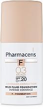 Parfémy, Parfumerie, kosmetika Delikátní tonální fluid SPF20 - Pharmaceris F Intense Coverage Mild Fluid Foundation SPF20