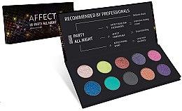 Parfémy, Parfumerie, kosmetika Lisovaná paleta očních stínů - Affect Cosmetics Party All Night Eyeshadow Palette