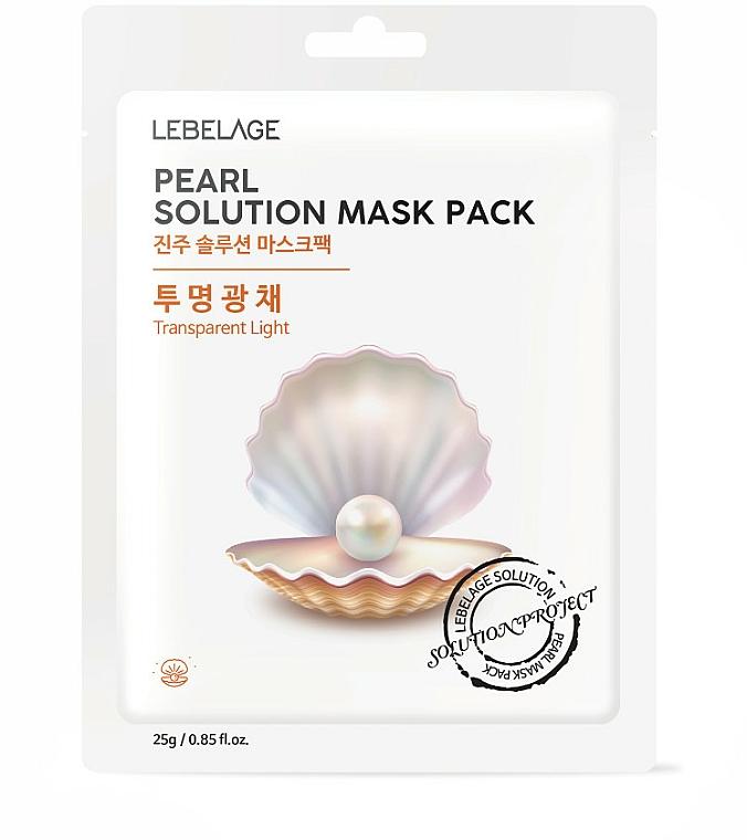 Látková pleťová maska - Lebelage Pearl Solution Mask — foto N1