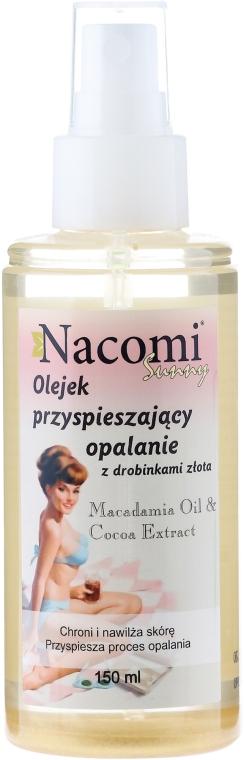 Olej po opalování se zlatými částicemi - Nacomi Sunny Oil — foto N1