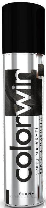 Sprej na zakrytí šedin a odrostlých kořínků - Colorwin — foto Black