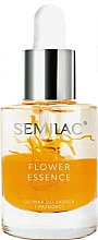 Parfémy, Parfumerie, kosmetika Ochranný olej na nehty a nehtovou kůžičku s olejem z broskvových jader - Semilac Flower Essence Orange Strength