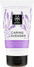 """Parfémy, Parfumerie, kosmetika Hydratační a zklidňující krém pro citlivou pokožku těla """"Levandule"""" - Apivita Caring Lavender Hydrating Soothing Body Lotion"""