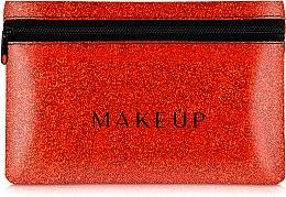 """Parfémy, Parfumerie, kosmetika Silikonová kosmetická taška, červená """"Glitter Pouch"""", 18x11cm - MakeUp"""