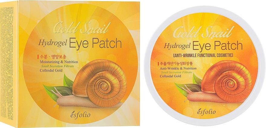 Hydrogelové náplasti pod oči se zlatým hlemýžděm - Esfolio Gold Snail Hydrogel Eye Patch