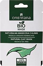 Parfémy, Parfumerie, kosmetika Jílová maska pro mastnou pleť Med a čajovník - Orientana (papírový obal)