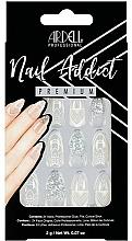 Parfémy, Parfumerie, kosmetika Sada umělých nehtů - Ardell Nail Addict Premium Artifical Nail Set Glass Deco