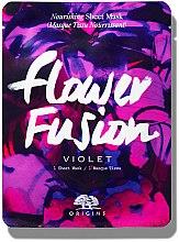 Parfémy, Parfumerie, kosmetika Vyživující látková pleťová maska s květy fialky - Origins Flower Fusion Violet Nourishing Sheet Mask