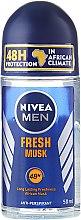 Parfémy, Parfumerie, kosmetika Kuličkový deodorant - Nivea For Men Fresh Musk Roll On