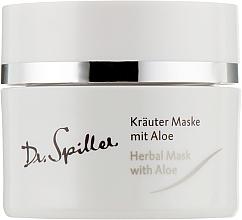 Parfémy, Parfumerie, kosmetika Bylinná maska pro rpoblematickou pleť s aloe vera - Dr. Spiller Intense Herbal Mask With Aloe