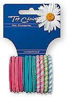 Parfémy, Parfumerie, kosmetika Gumičky do vlasů 12ks, barevný mix, 21985 - Top Choice