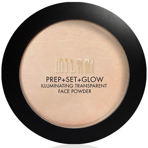 Pudr+primer+záře na obličej 3v1 - Milani Prep + Set + Glow Illuminating Transparent Powder