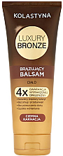 Parfémy, Parfumerie, kosmetika Samoopalovácí balzám pro tmavou pleť - Kolastyna Luxury Bronze Tanning Balm