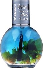 Parfémy, Parfumerie, kosmetika Olej na nehty a nehtovou kůžičku s květinami - Silcare The Garden Of Colour Vanilla Sky Blue