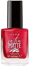 Parfémy, Parfumerie, kosmetika Lak na nehty - Avon Satin Matte Nail Enamel