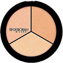"""Parfémy, Parfumerie, kosmetika Rozjasňovač na obličej """"Trio"""" - Deborah Highlighter Trio Palette"""