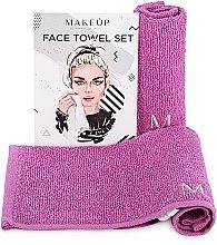 """Parfémy, Parfumerie, kosmetika Cestovní sada ručníků, šeříkové """"MakeTravel"""" - Makeup Face Towel Set"""