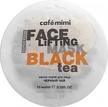 Parfémy, Parfumerie, kosmetika Maska-scrub na obličej Černý čaj a Lemongrass - Cafe Mimi Face Mask