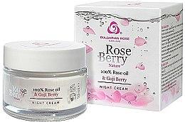 Parfémy, Parfumerie, kosmetika Noční krém na obličej - Bulgarian Rose Rose Berry Nature Night Cream