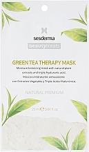 Parfémy, Parfumerie, kosmetika Hydratační maska se zeleným čajem - SesDerma Laboratories Beauty Treats Green Tea Therapy Mask