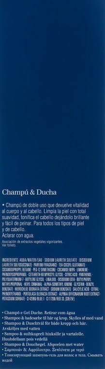 Tonizující šampon na tělo a vlasy - Clarins Men Shampoo & Shower — foto N3