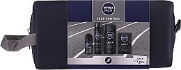 Parfémy, Parfumerie, kosmetika Sada - Nivea Men Deep Control 2020 (sh/gel/250ml + ash/lot/100ml + foam/200ml + deo/50ml + bag)