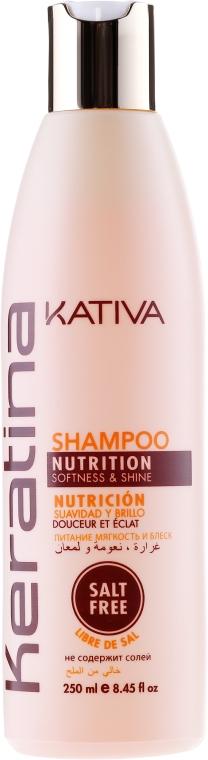Keratinový zpevňující šampon pro všechny typy vlasů - Kativa Keratina Shampoo — foto N1