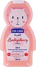 Parfémy, Parfumerie, kosmetika Přípravek na mytí vlasů, těla a obličeje Bonbony - On Line Le Petit Candy 3 In 1 Hair Body Face Wash