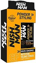 Parfémy, Parfumerie, kosmetika Matný objemový pudr na šedivé vlasy - Nishman White Coverage Styling Powder